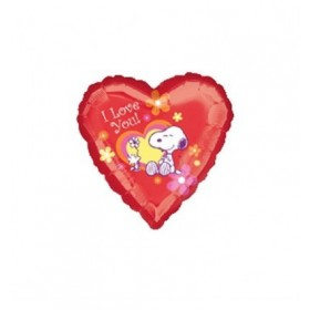 BALLOON HEART SNOOPY I LOVE YOU