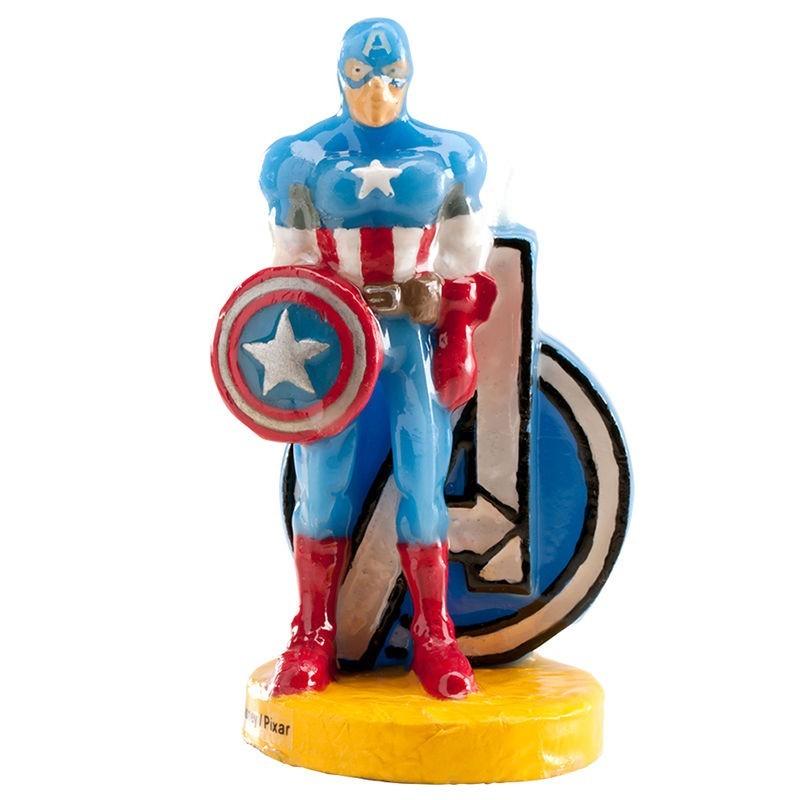 Velas Marvel Capitan America Cumpleanos Tematica Chuches