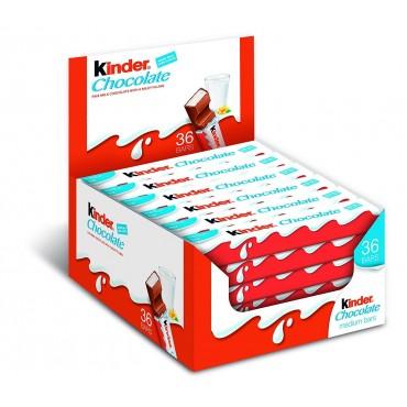 KINDER CHOCOLATE 36Uds.