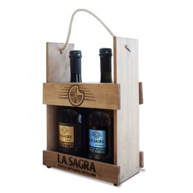 CASE WOODEN BEER HUT - SUXINSU THE SAGRA 2x75CL