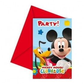 INVITATIONS MICKEY MOUSE 6Uds