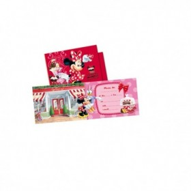 INVITATIONS MINNIE MOUSE 6Uds