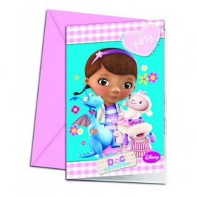 INVITATIONS DOCTOR TOYS 6Uds