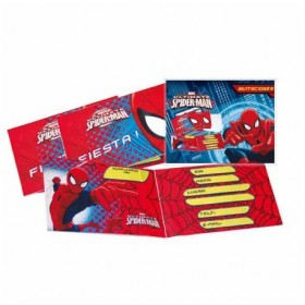 INVITATIONS SPIDERMAN 6Uds