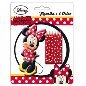 VELAS + FIGURA MINNIE MOUSE