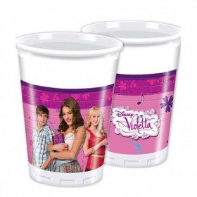 CUPS PLASTIC PURPLE 8Uds